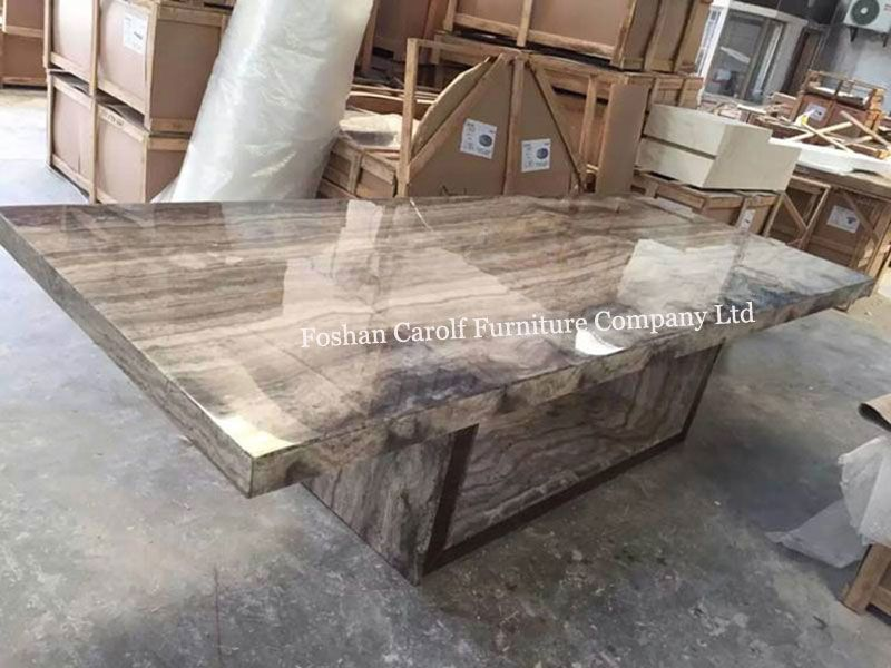 8 Seater Stone Marble Dining Table Set