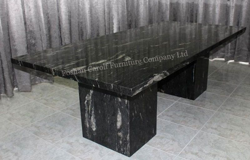 10 Seater Natural Black Marble Dining Table From China