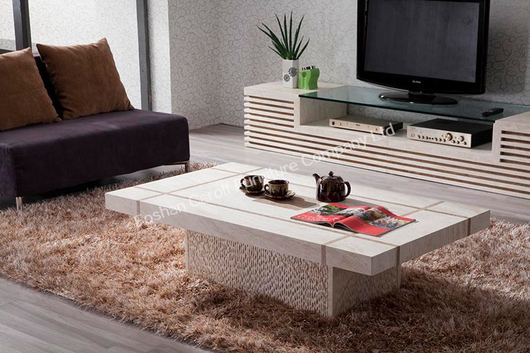 granite living room tables luxury furniture modern nature travertine coffee 14773