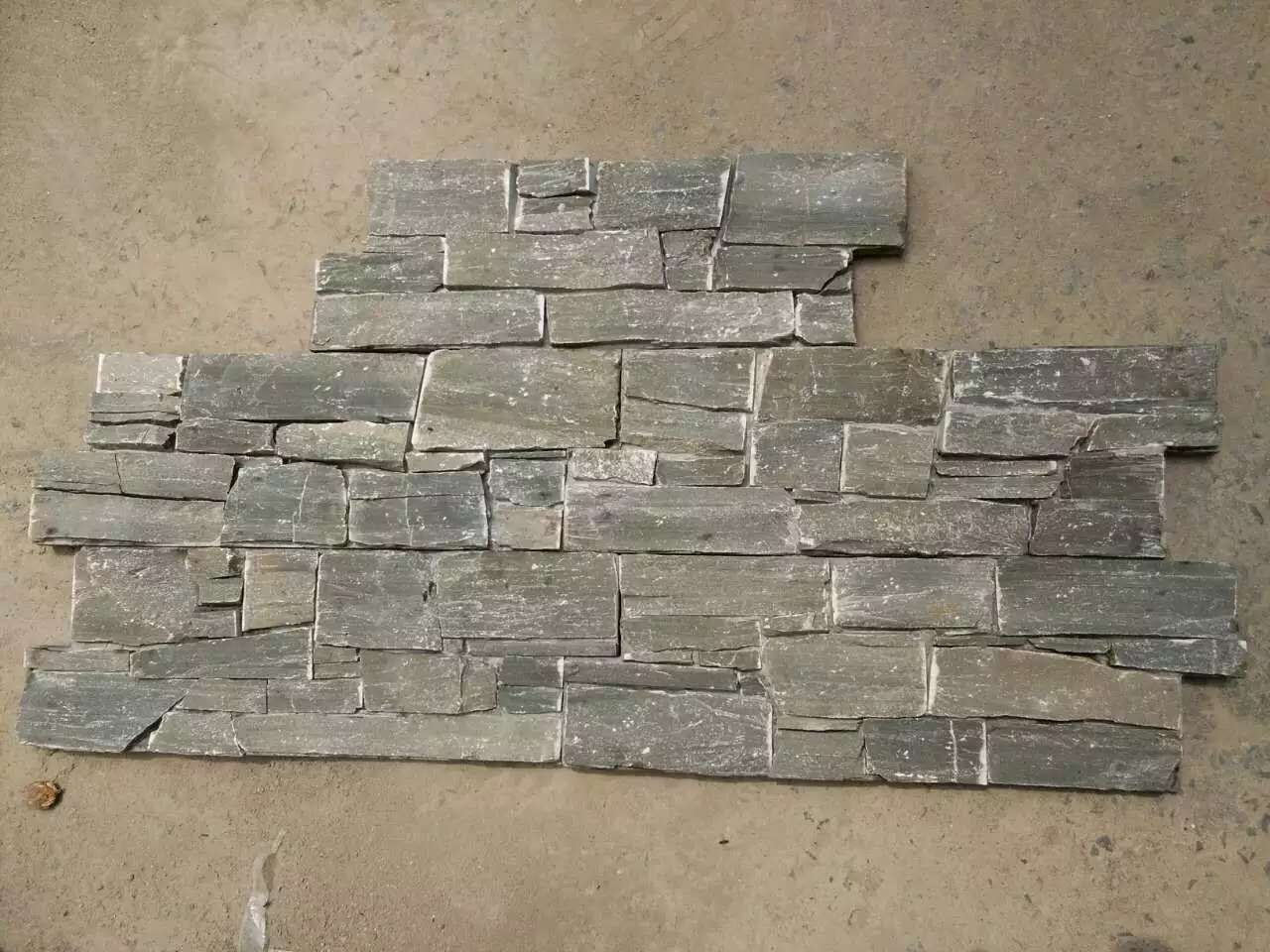 Grey Cement Cultured Stone Concrete Back Natural Stone