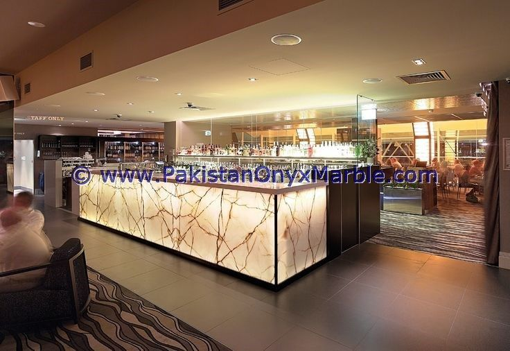 Modern Design Backlit Onyx Kitchen Countertops From