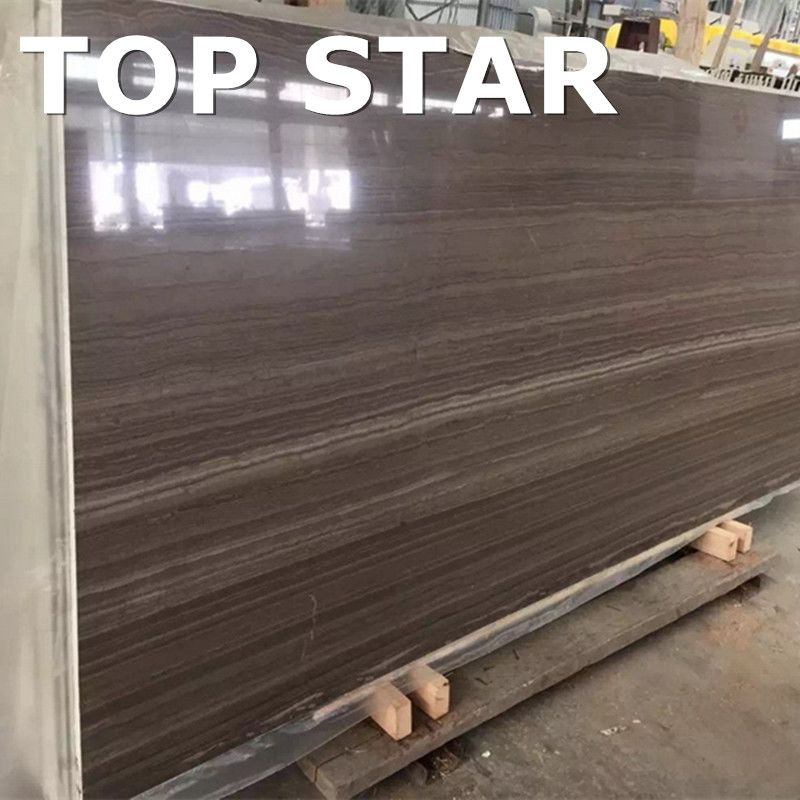 wholesaler royal wooden kylin grain brown marble tiles 12x24 from china