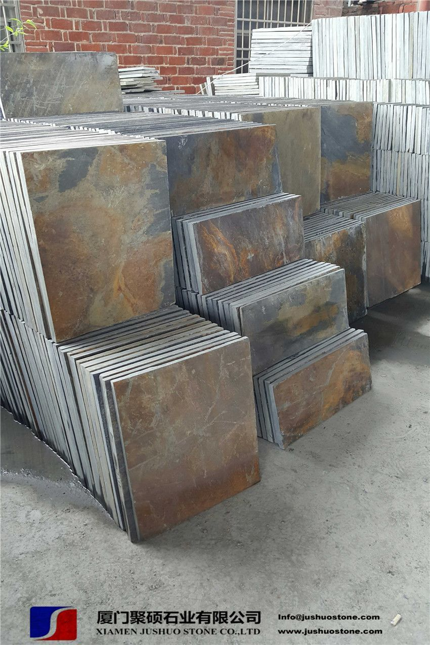 china copper rusty natural slate tiles cheap good quality