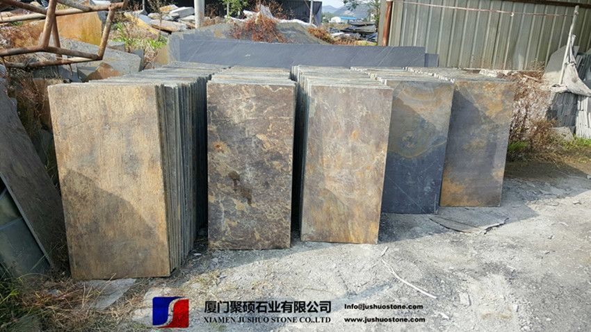 Copper Rusty Natural Slate Tiles Cheap Good Quality