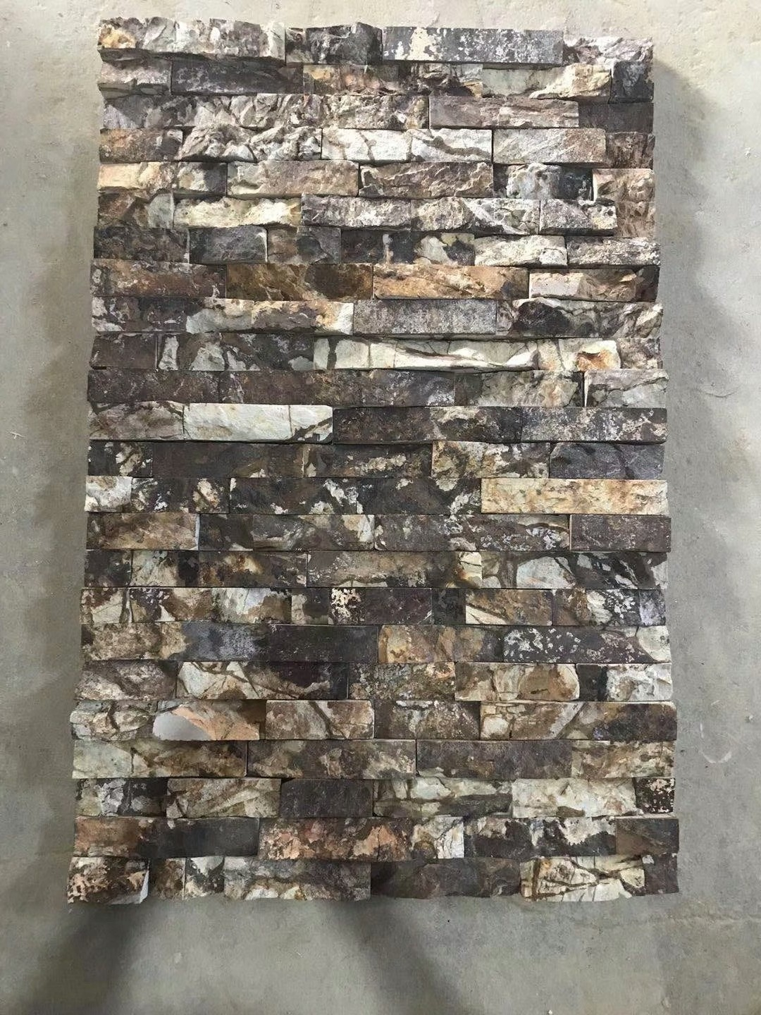 Rough Surface Lilac Cultured Stone Veneer Wall Clad Decor Stacked Glue