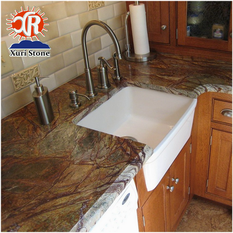 Prefab Rainforest Green Marble Kitchen Countertops Price ...