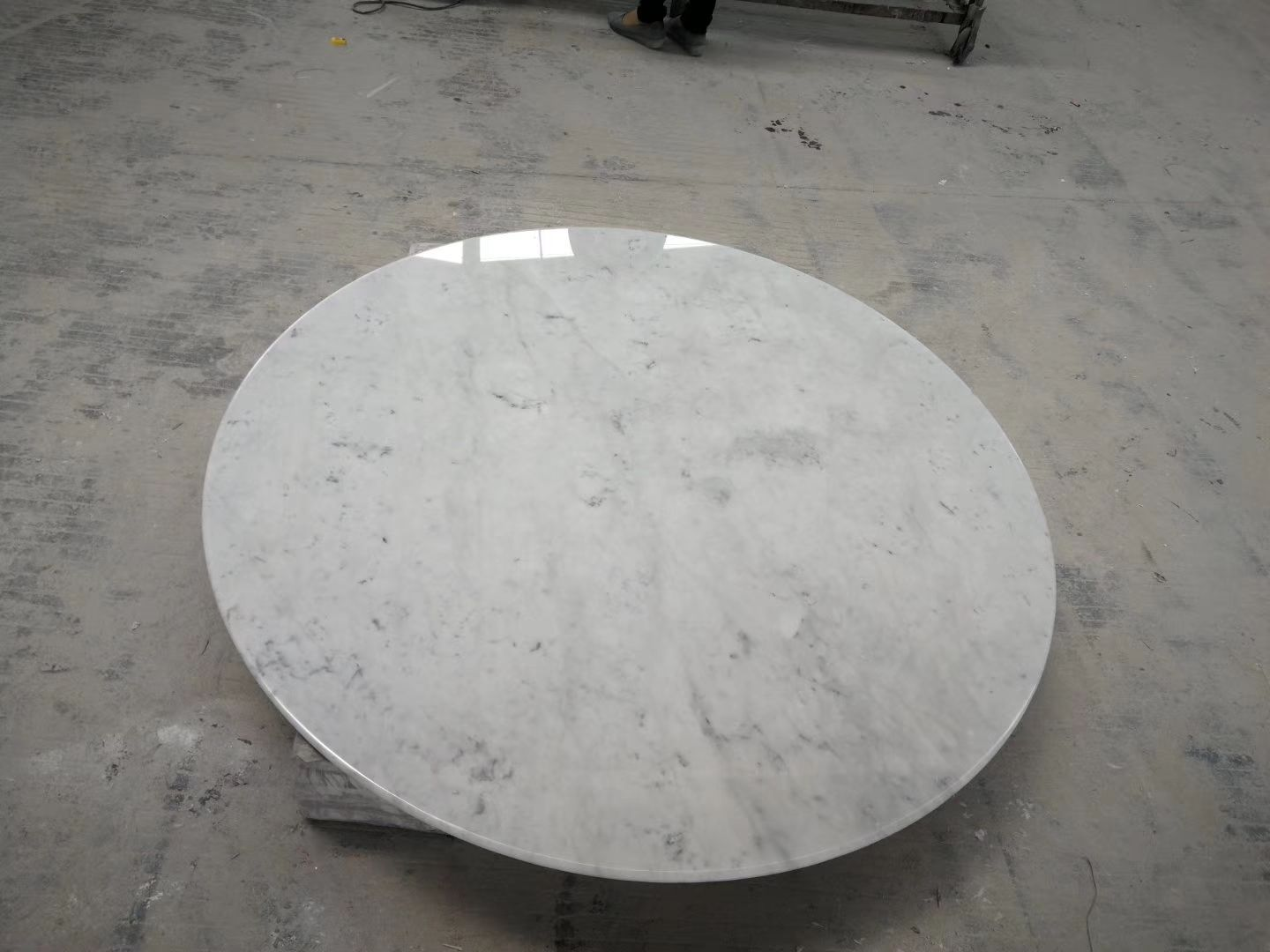 Carrera Marble Table Tops Carrara White Round Dinner Tabletops