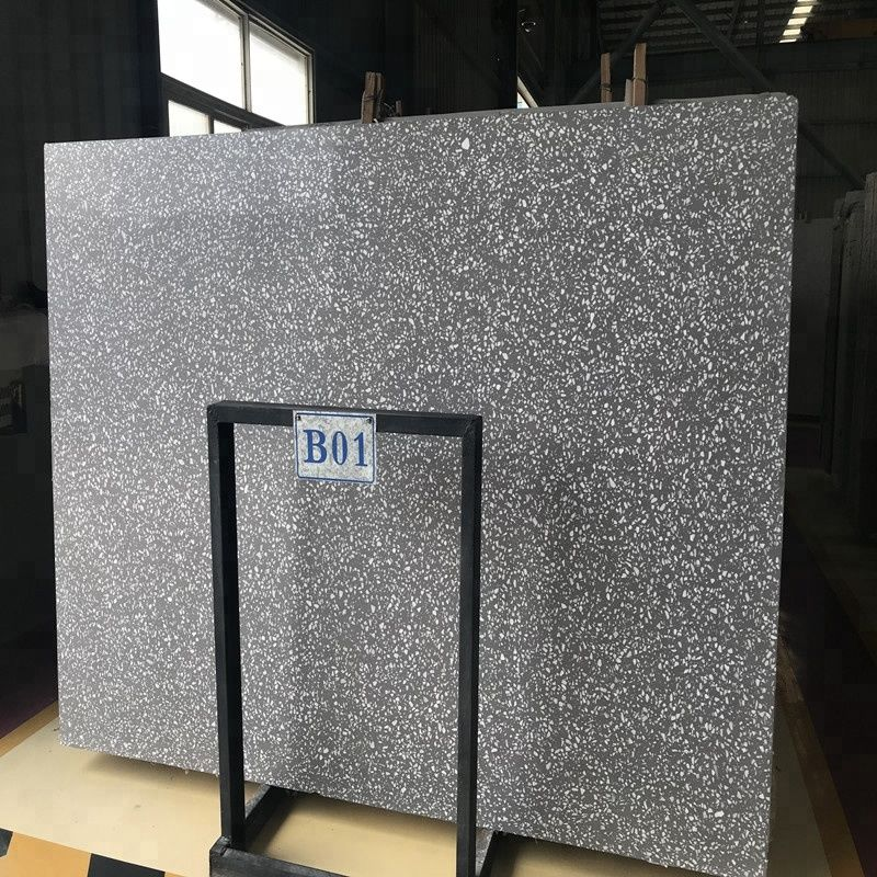Dark Grey Terrazzo Slabs And Tiles From China