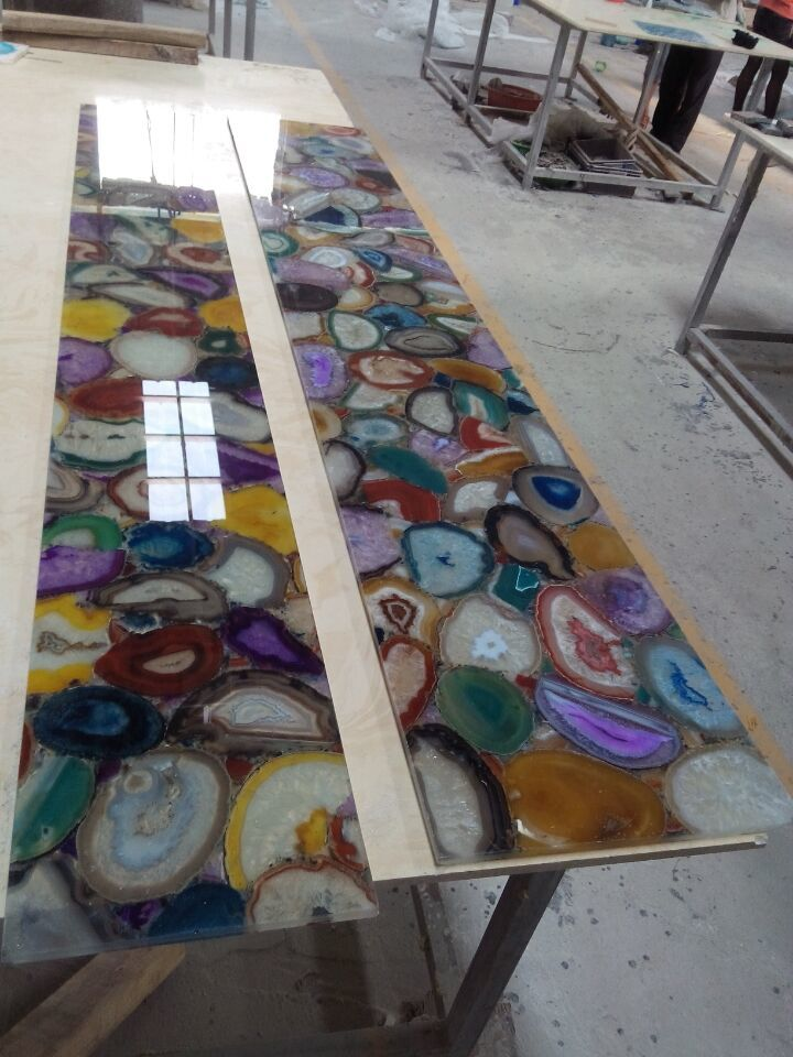 Multicolor Natural Agate Stone Slabs From China