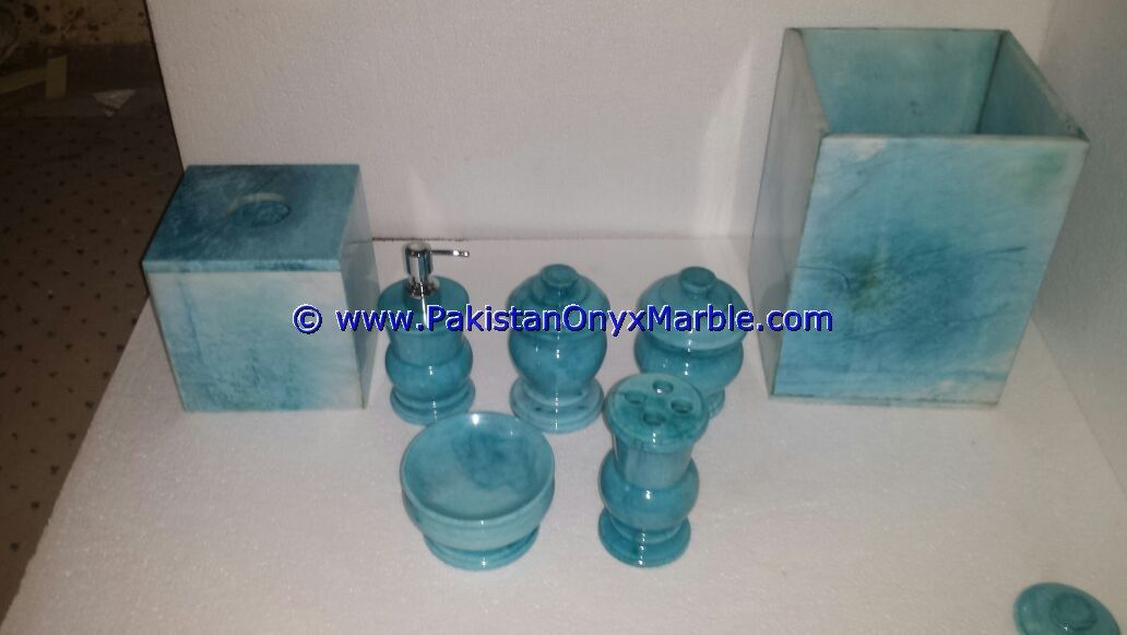 Marble Bathroom Accessories Set Colored Tumbler From Pakistan Stonecontact Com
